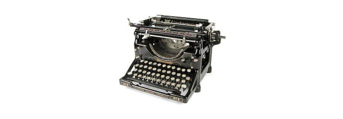 machine à écrire trendemic